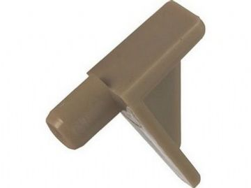 NEW BEIGE SHELF SUPPORT PLUG IN STUDS 6mm HOLE 40 pack C051